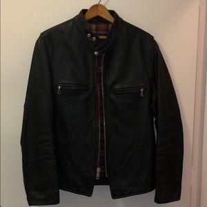 Schott Men's Hoursehide Black Leather Jacket